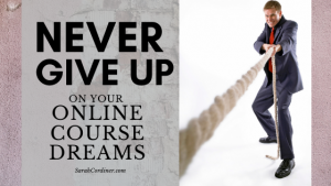 NEVER GIVE UP on your online course idea