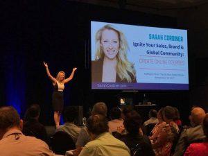sarah cordiner presentating at professional speakers australia annual convention