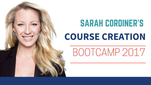 COURSE CREATION BOOTCAMP sarah cordiner