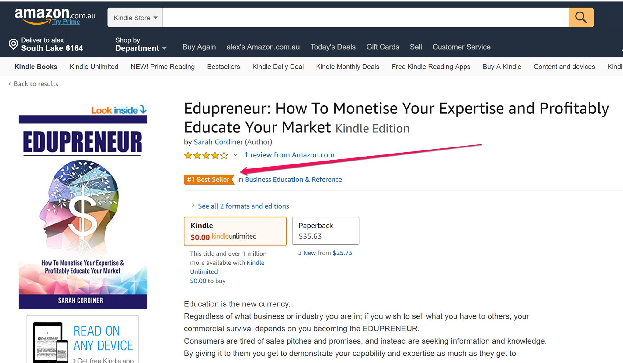 edupreneur best seller