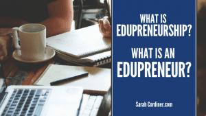 what is an edupreneur sarah cordiner