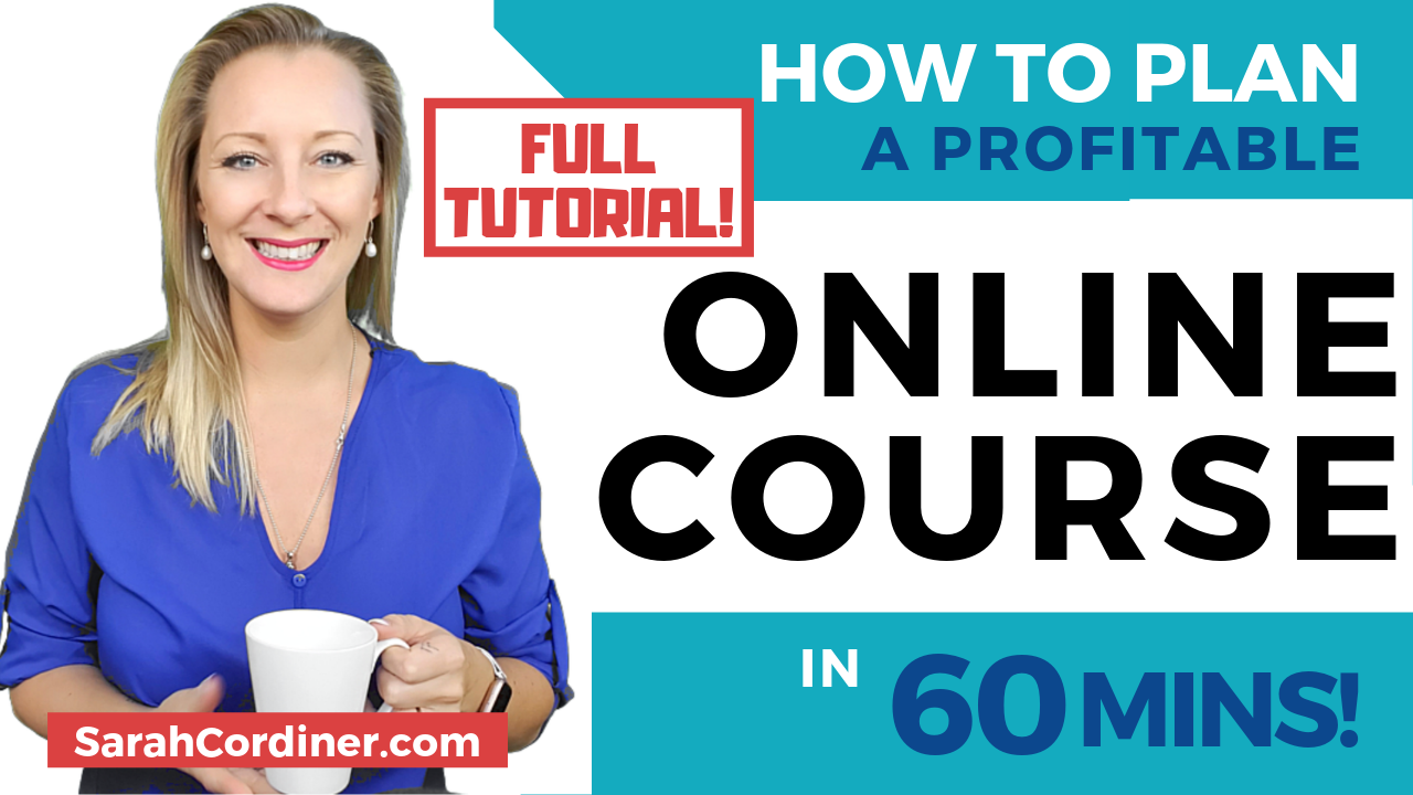 How To create a profitable online course plan in 60 mins