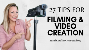 Filming and video creation tips from entrepreneurs edupreneurs online course creators