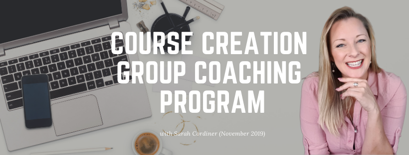 COURSE CREATION GROUP COACHING PROGRAM