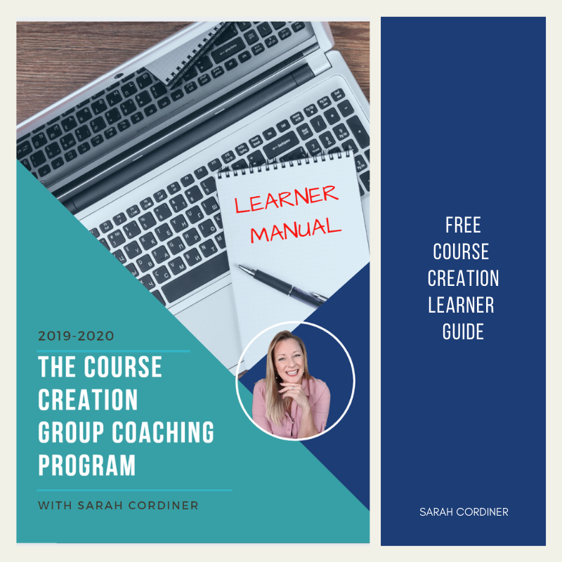 FREE ONLINE COURSE CREATION LEARNER MANUAL