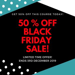 Create online courses black friday discount sale sarah cordiner