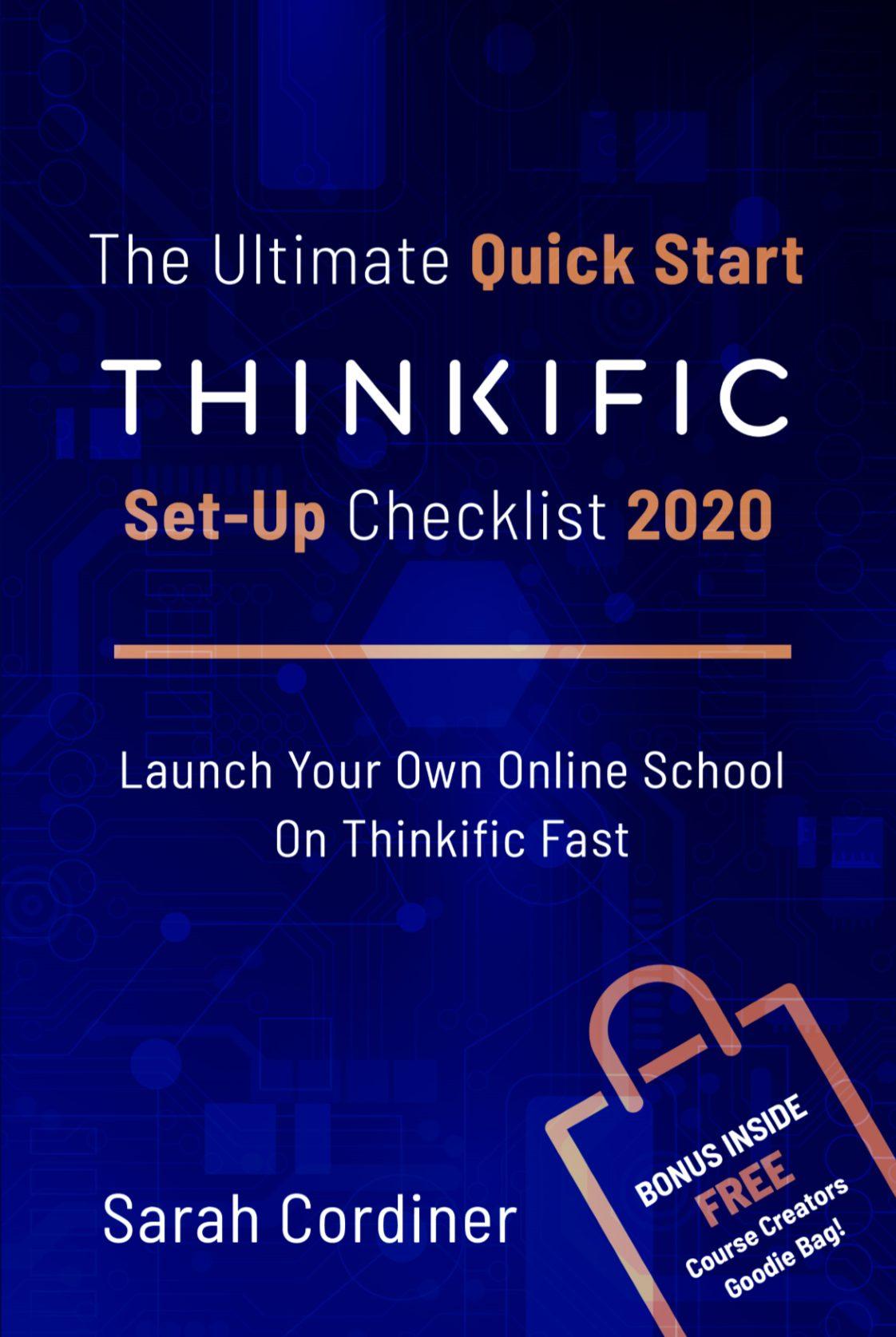Thinkific Quick Start Guide Checklist - Book Sarah Cordiner
