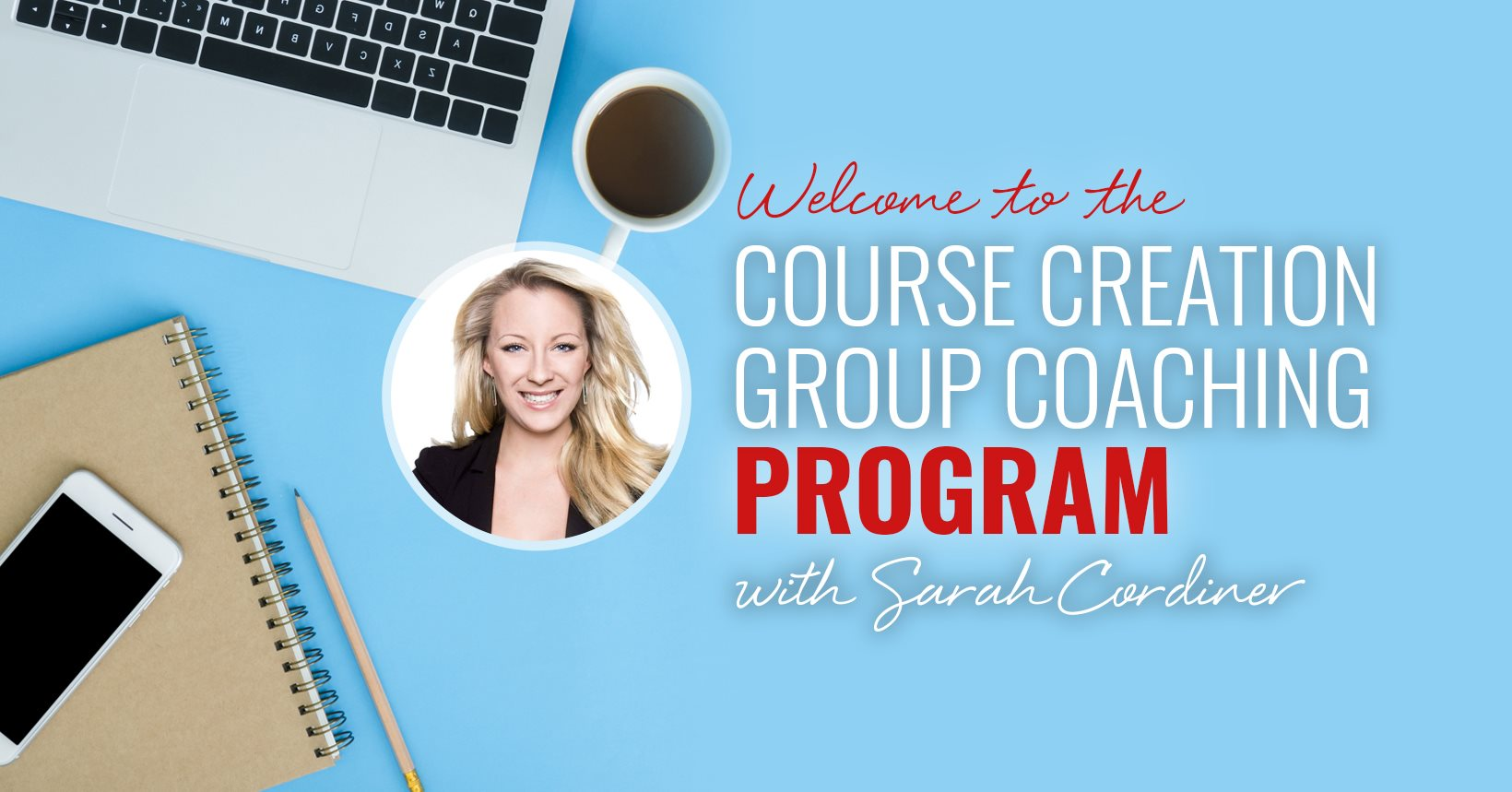Course creation group coaching program sarah cordiner