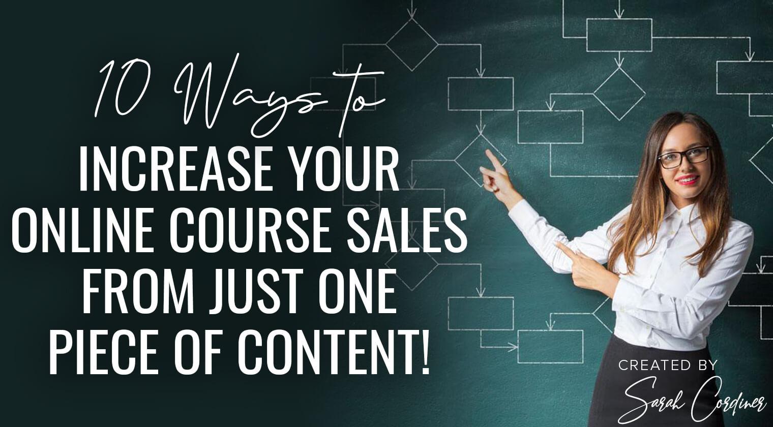10 ways increase online course sales one piece content