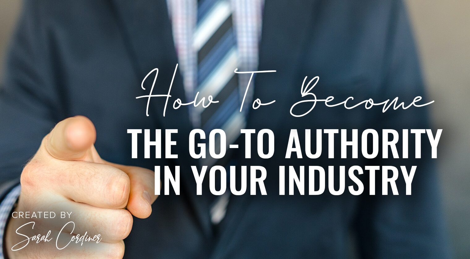 become the go to authority