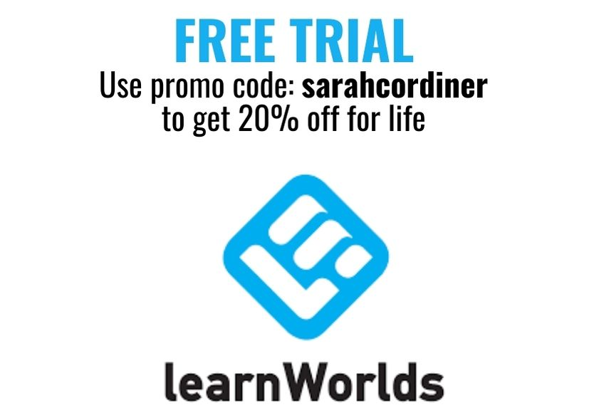 FREE TRIAL Use promo code sarahcordiner for 20% off for life
